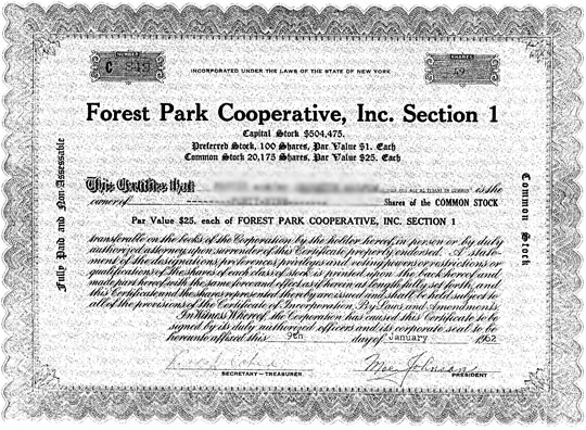 queens-coop-stock-certificate-sample
