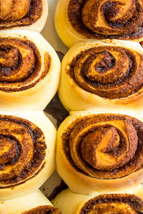 These are hands down the best Cinnamon Rolls I've ever had! They're incredibly soft, fluffy, warm and gooey. Smothered in a silky smooth Cinnamon Cream Cheese Icing, this will undoubtedly be your new favourite cinnamon roll recipe!