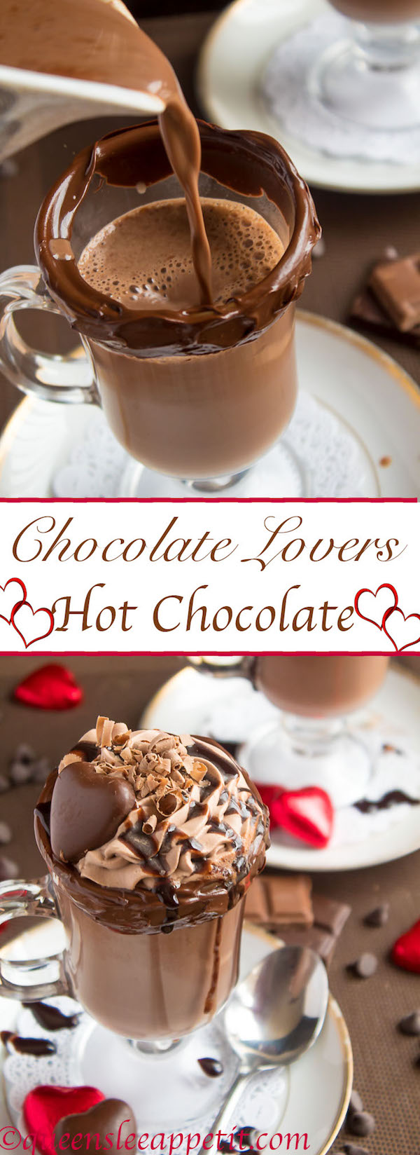 The most decadent hot chocolate, topped with chocolate whipped cream and more delicious chocolate garnishes. This rich and creamy Hot Chocolate was created for the chocolate lover in you.