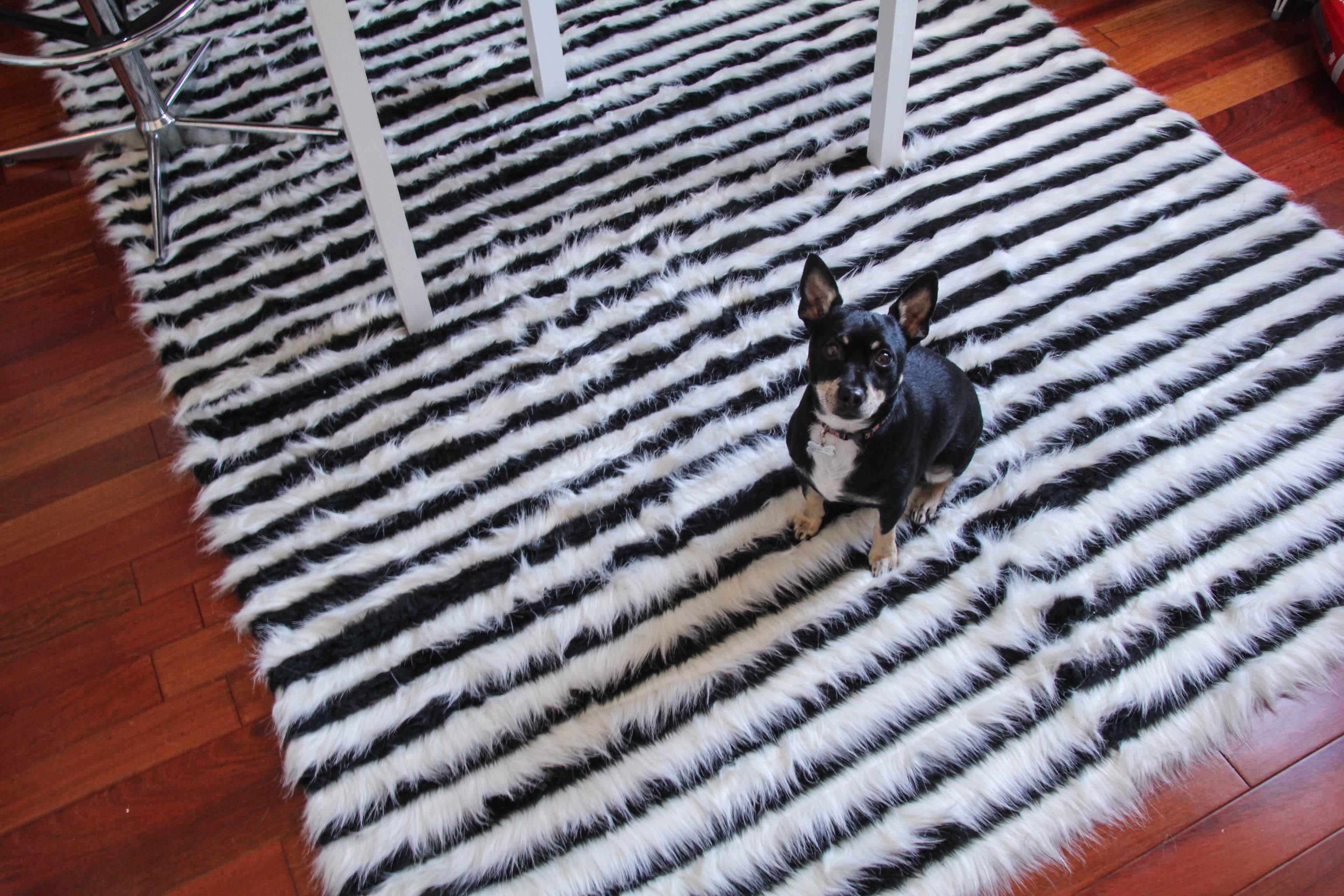 DIY faux fur rug - Freddie