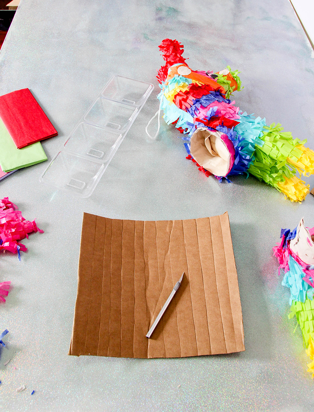 Pinata bar - cut cardboard