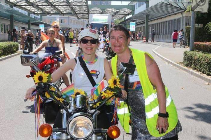 Dykes on Bikes, CSD am See , Konstanz