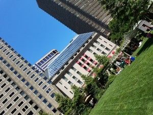 The Norman B. Leventhal Park is like a backyard to the Langham Hotel Boston