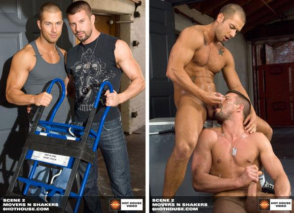 Hot House Exclusive gay porn star Kyle King and Rod Daily cumshot