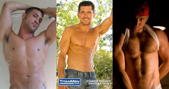 masculine gay porn stars from TitanMen Mustang Tony Aziz David Anthony Tom Wolfe