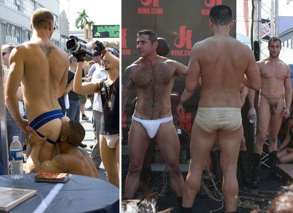 gay porn stars at Folsom Street Fair 2009 San Francisco