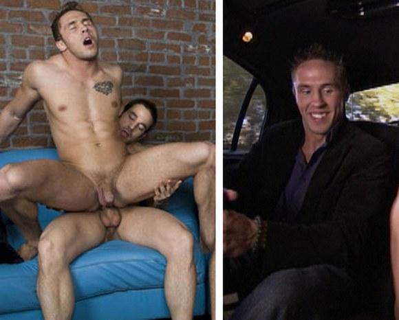 gay porn star Randy Blue model Ryan Rockford on Playboy TV reality show FOURSOME