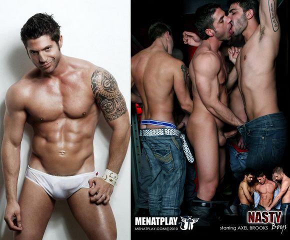 gay porn model Axel Brooks XXX Men At Play