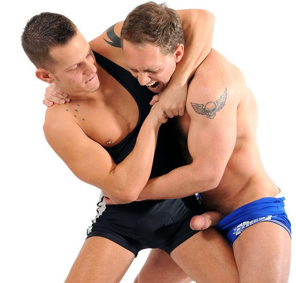 gay erotic male in white underwear
