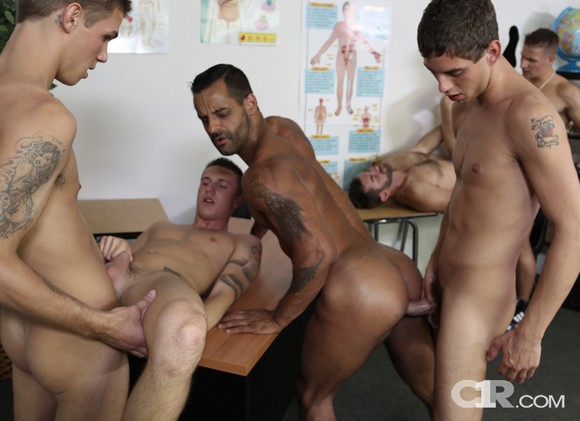 David Benjamin Logan Vaughn Jake Jennings Cody Avalon Trent Ferris Sam Truitt ORGY