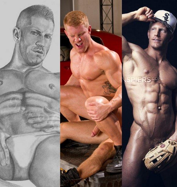 JohnnyV Muscle Model Bodybuilder Gay Porn