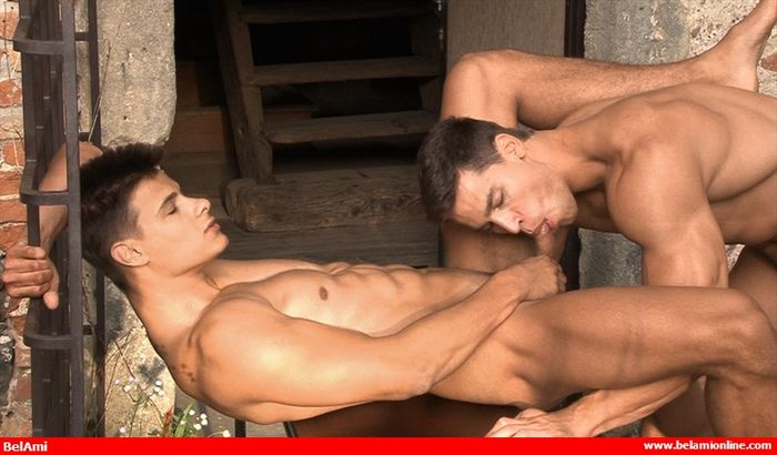 Kris Evans Gay Porn BelAmi Andrei Karenin Muscle Jock Bareback Sex XXX 8