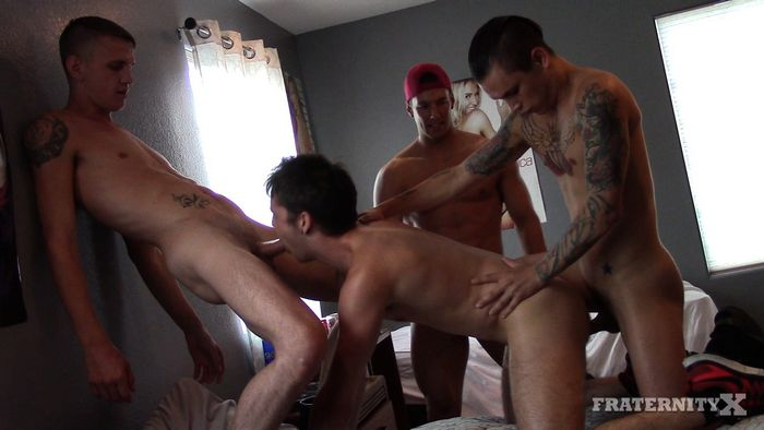 Rod Peterson Gay Porn Bareback Gang Bang Fratnity X LOADED HOLE 3