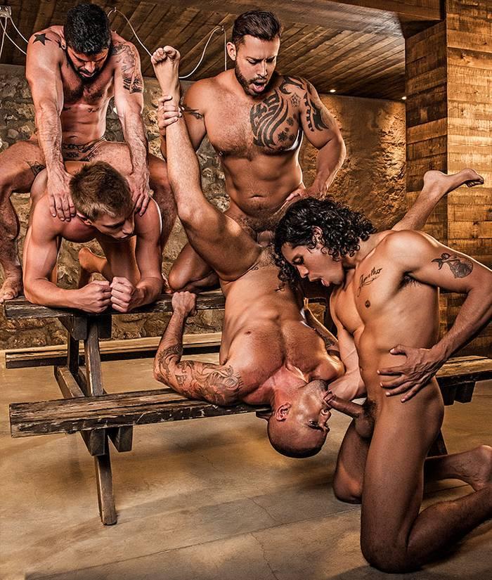 Gay Porn Orgy Bareback Fuck Damien Crosse Mario Domenech Bogdan Gromov Alejandro Castillo Viktor Rom
