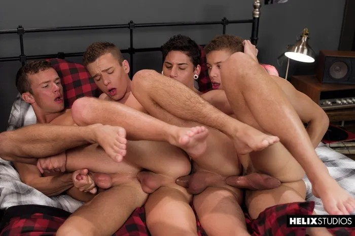 Gay Porn Logan Cross Brad Chase Aiden Garcia Corbin Colby Bareback Train Fuck Twink