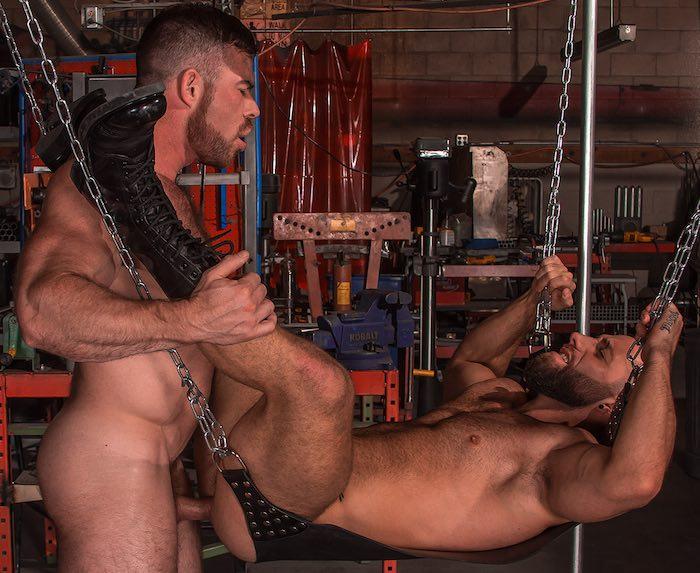Eddy CeeTee Bottom Gay Porn Liam Knox TitanMen Sling