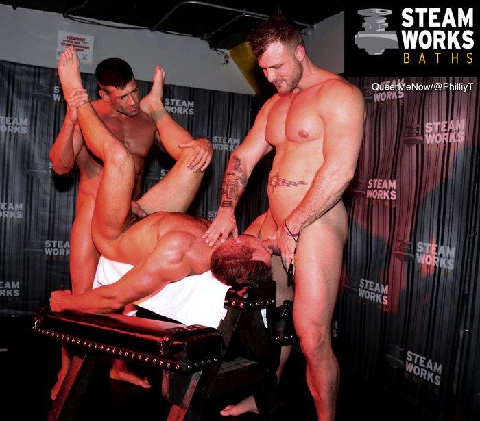 Gay Porn Bruce Beckham Alex Mecum Austin Wolf Live Sex Show Steamworks Chicago