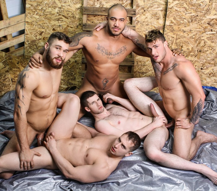 Gay Porn Orgy William Seed Jason Vario Joey Mentana Morgan Blake Thyle Knoxx