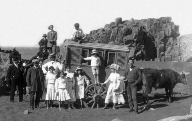 Irreconocibles imágenes: vacaciones de los chilenos hace 100 años