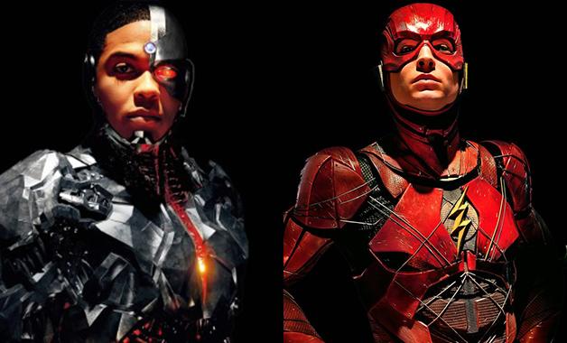 Superhéroes Flash y Cyborg