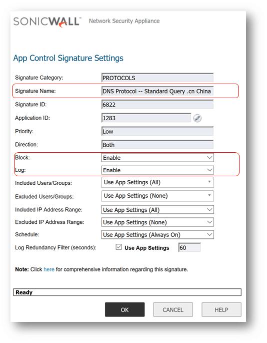 Como bloquear domínios xxx com APP Control Sonicwall