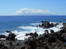 Vue de la plage de San Juan sur la Gomera