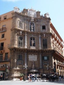 Piazza Vigliena - Quattro Canti (Palerme)