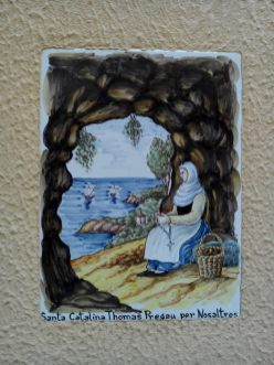 Azulejos à l'honneur de Santa Catalina (Valldemossa)