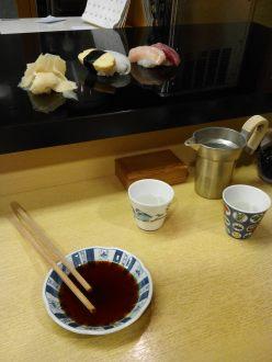 Dîner chez Sushi Ippei (Kanazawa)