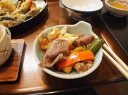 Dîner japonais - boeuf de Hida (Takayama)