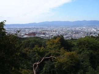 Vue du sanctuaire Fushimi-Inari (Kyoto)