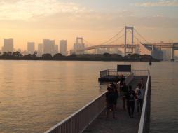Tournage du clip de Show Lo devant le rainbow bridge (Quartier d'Odaiba / Tokyo)