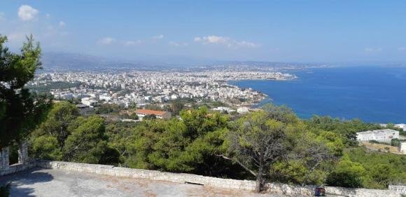 Vue sur la baie de la Canée de la tombe d'Elefthérios Venizélo (Presqu'île d'Akrotiri - Crète)