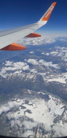 Au dessus des Alpes (retour de Crète)