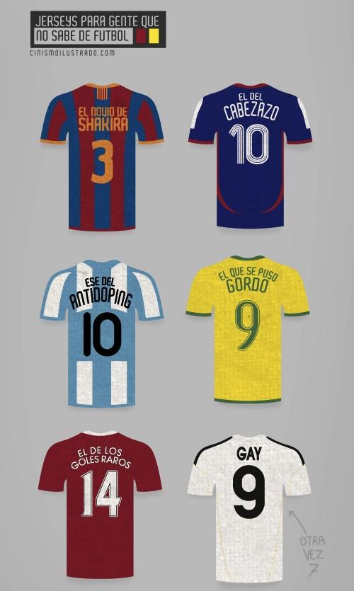 Camisetas para gente que no sabe de futbol