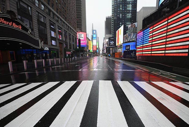 Nueva York vacía por el Coronavirus