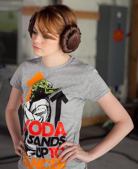 Emma Stone de Princesa Leia, Star Wars contra el cancer