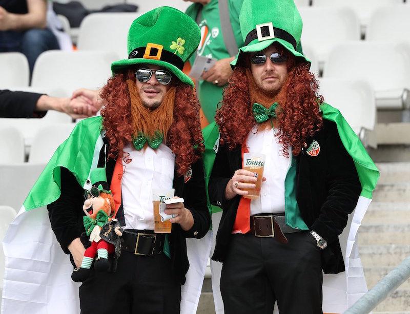 Hinchas irlandeses en la Euro 2016