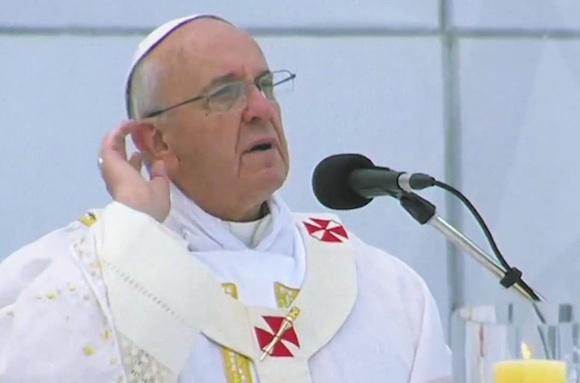 """Jogo bendito"", la publicidad del mundial 2104 de TyC Sports: O Papa está com você"