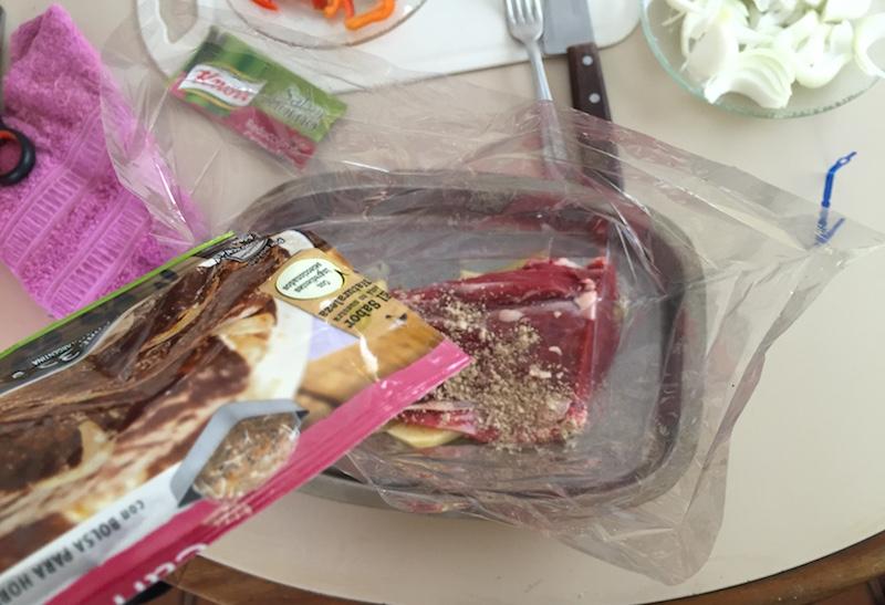 Lomo al horno con las bolsas de Knorr