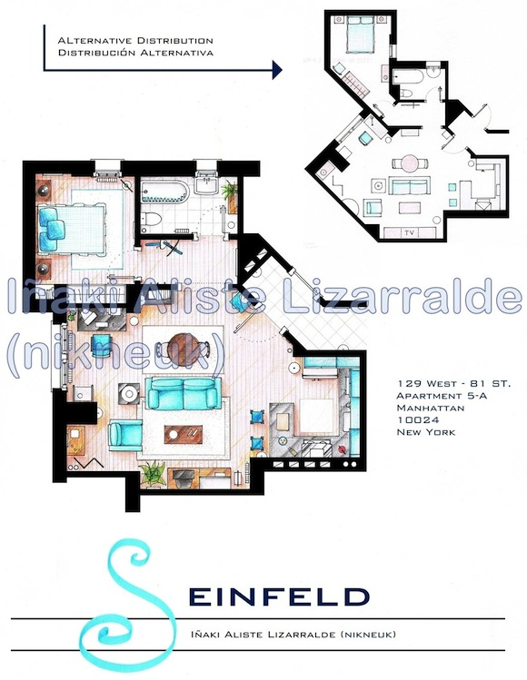 Plano del departamento de Seinfeld