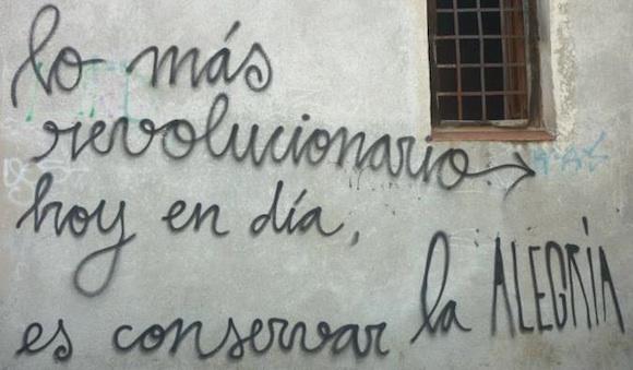 Lo mas revolucionario hoy en dia es conservar la alegria