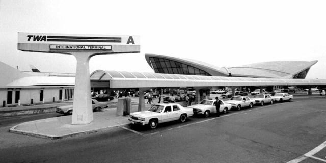 La Terminal TWA del aeropuerto JFK cuando se inauguró