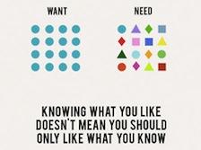 Lo que quieres, lo que necesitas