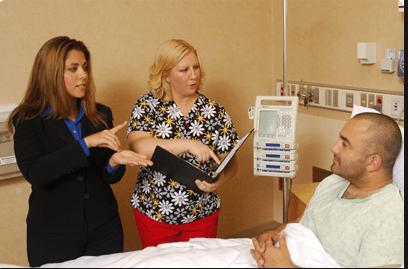 patient, doctor, interpreter