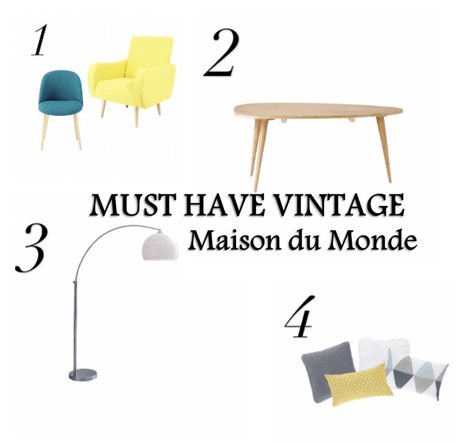 must have per una casa vintage maison du monde quello sbagliato vintage fashion blog. Black Bedroom Furniture Sets. Home Design Ideas