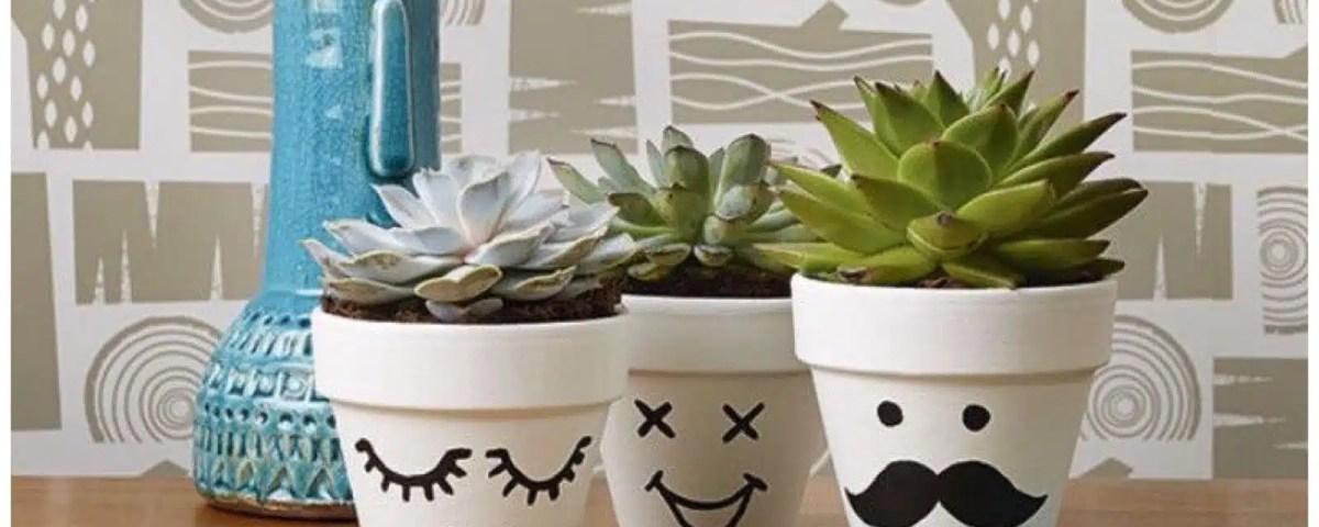 idee su come decorare i vasi di terracotta