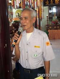 Huynh Trưởng Nguyên Quang Nguyễn Tất Trực, Phó Trưởng Ban Hướng dẫn Trung ương kiêm Trưởng Ban Hướng Dẫn GĐPT Thừa Thiên phát biểu