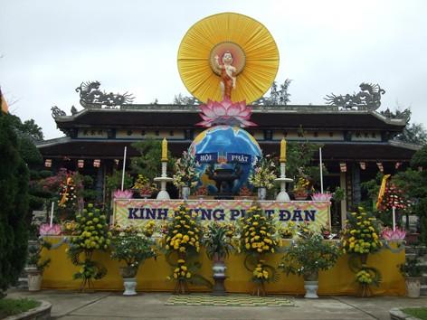 Lễ đài chính Ban Đại Diện GHPGVNTN tỉnh Thừa Thiên, tại Tổ đình Quốc Ân