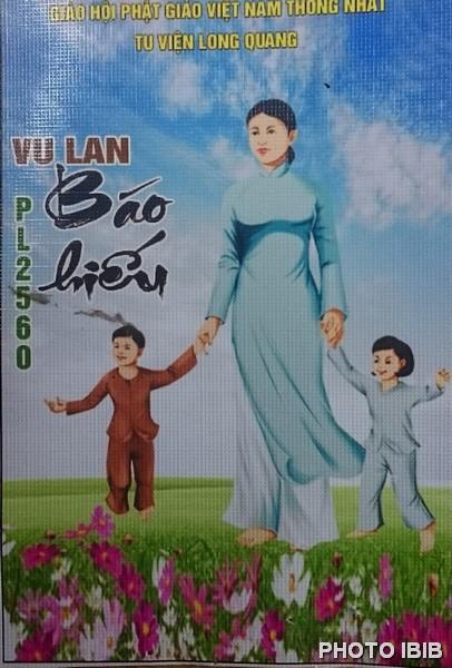 Bích chương Vu Lan Báo hiếu tại Tu viện Long Quang